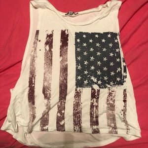 American flag tank size small loose fitting
